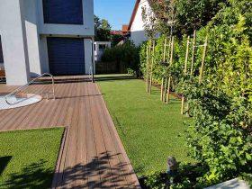 Umjetni travnjak u vrtu vile u Zagrebu2