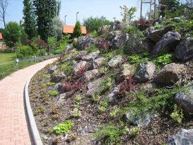 5f Kamenjar koji stabilizira strmi pokos sa biljkama koje štite zemlju od ispiranja