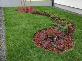 Izgled cvjetne gredice sa ugrađenim vrtnim rubnjacima Herbadesign visine 11 cm