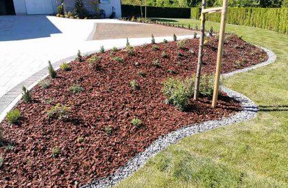 Vrtni graničnici Herbadesign za odvajanje malčiranih površina prilikom izrade cvjetnih gredica2