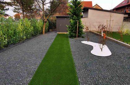 Vrtni graničnici Herbadesign za odvajanje staze od umjetne trave i ostavih površina u vrtu