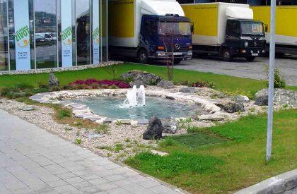 10a Vrtno jezerce i fontana ispred logističkog centra DM, Zagreb