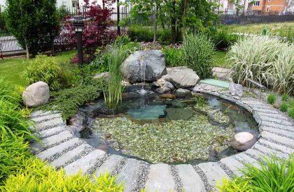 Vrtno jezerce u privatnom parku u Sesvetama